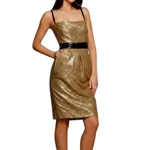 Dolce & Gabbana gold and black cocktail dress